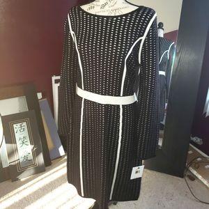 Black & White Calvin Klein Sweater Dress